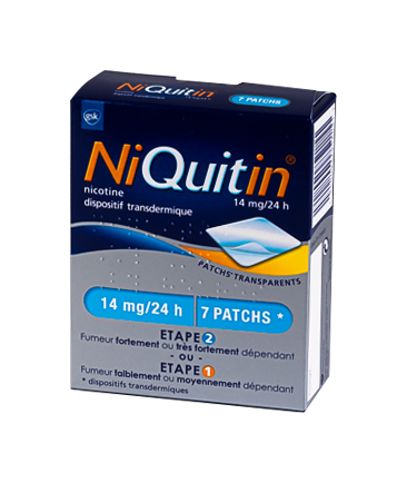 Image NIQUITIN 14MG/24H DISPOSITIF TRANSDERMIQUE 7 SACHETS